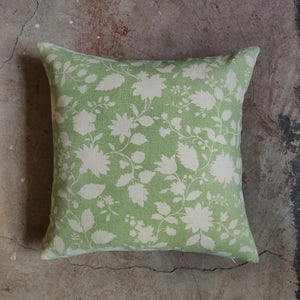 45cm Square Linen Cushion / Speedwell Sage