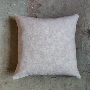 45cm Square Linen Cushion / Squirlette Old Rose