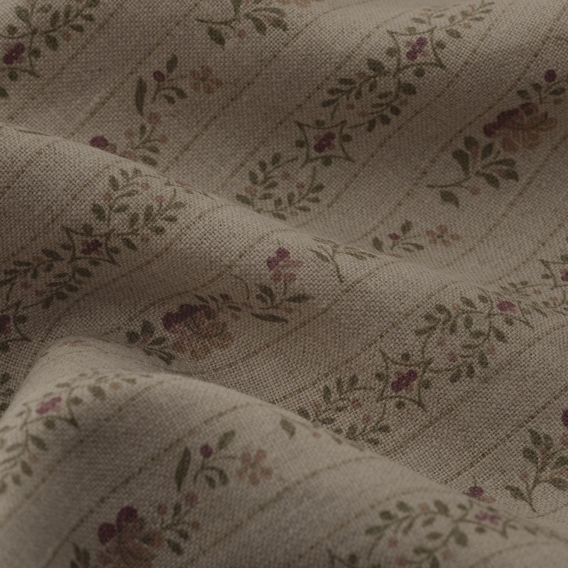 Beauclerc Stripe Narrow Aged Linen / Natural Rose