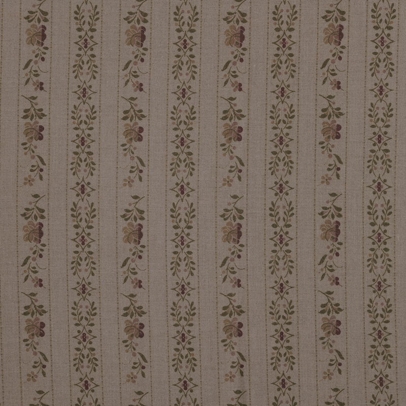 Beauclerc Stripe Narrow Aged Linen/Natural Rose Samples