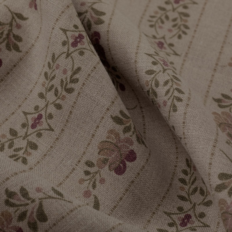Beauclerc Stripe Wide Aged Linen/Natural Rose