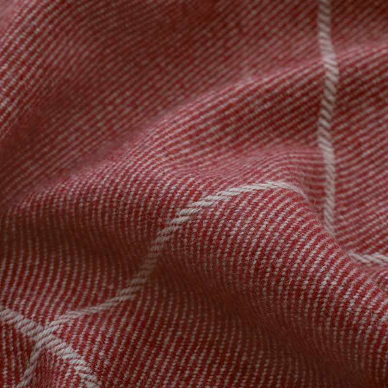 Beaumont Check Wool/Cranberry DISCONTINUED