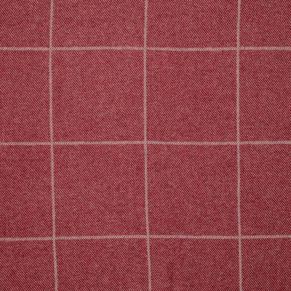 Beaumont Check Wool/Cranberry Samples