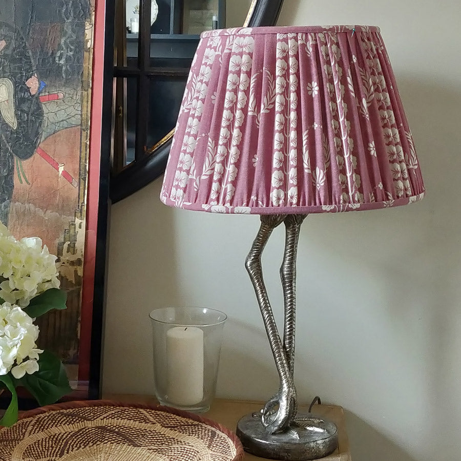 Pleated Drum Lampshade/ Couronne Damson Pink
