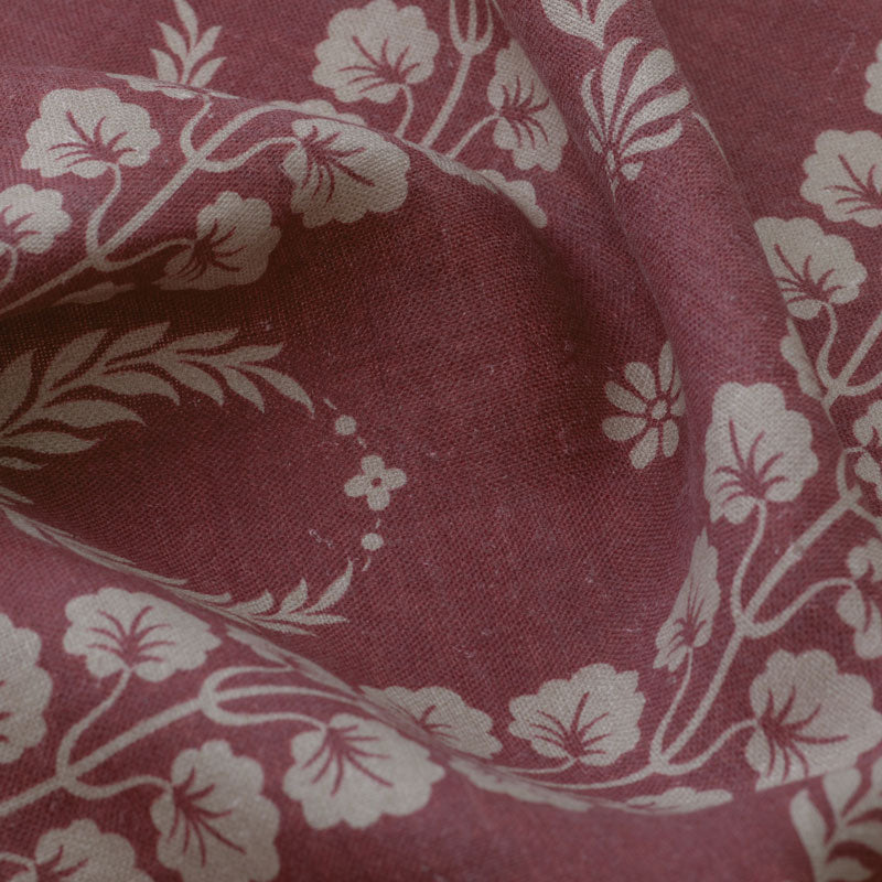 Couronne Aged Linen / Damson Pink