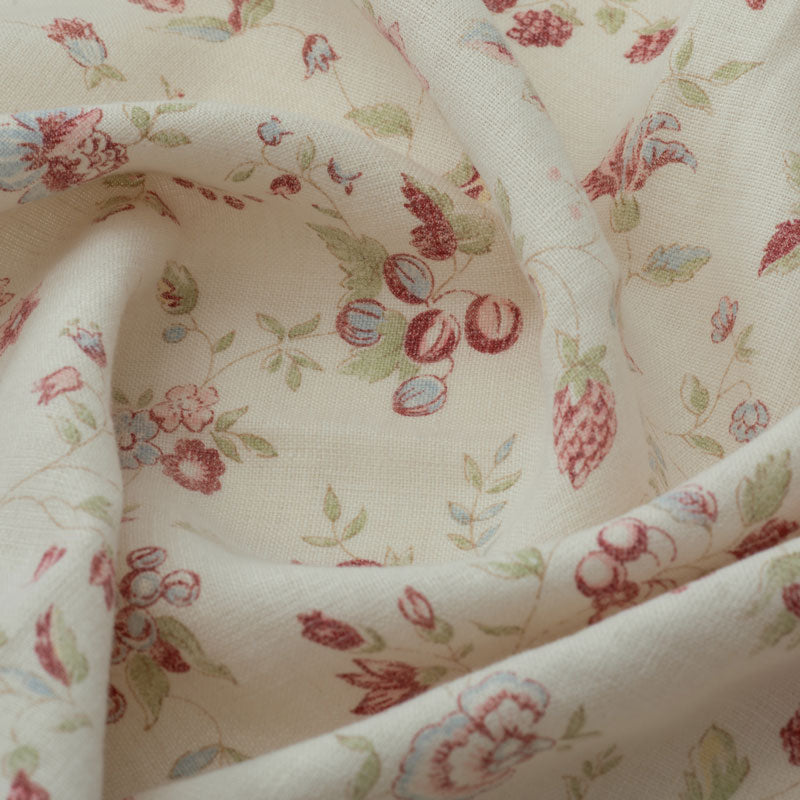 Framboise Double Aged Linen/Ivory
