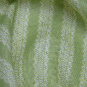 Torchon Stripe Linen / Awe Green