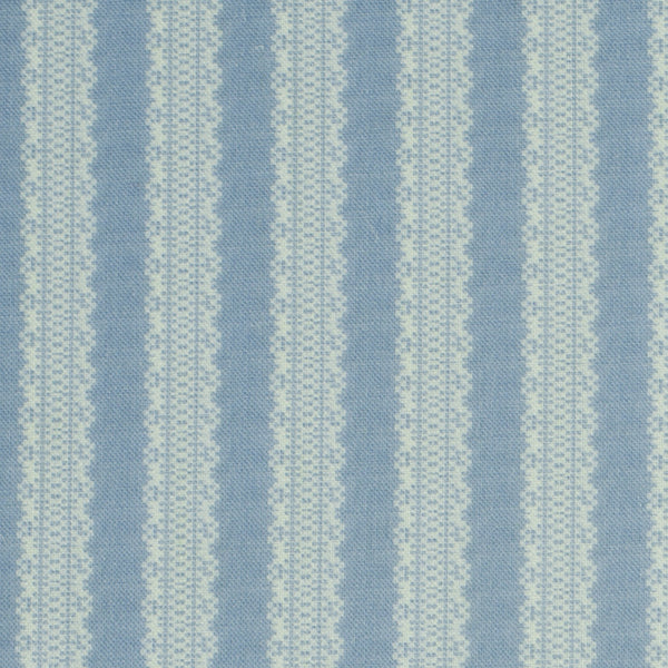 Torchon Stripe / Cornflower Samples