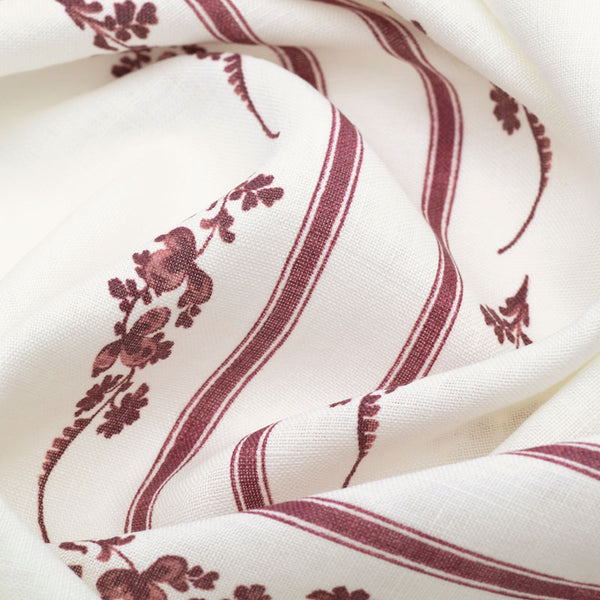 Trifolium Marchprint™ / Raspberry on Ivory