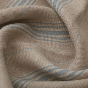 Woven Ticking Linen/Old Blue
