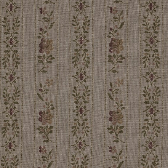 Beauclerc Stripe Wide Aged Linen/Natural Rose Samples