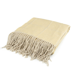 The Inchyra Scottish Wool Throw in Maize
