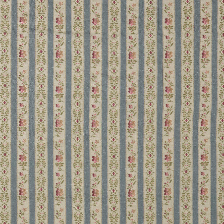 Beauclerc Stripe Narrow Aged Linen/Wedgewood Samples