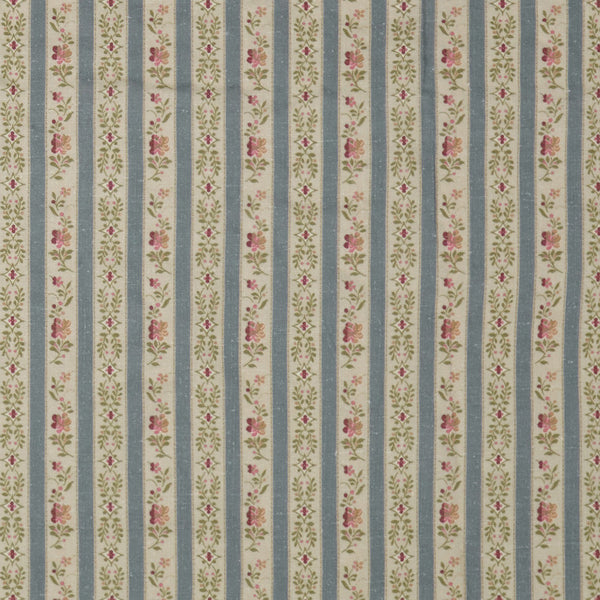 Beauclerc Stripe Narrow Aged Linen/Wedgewood (Swatch)