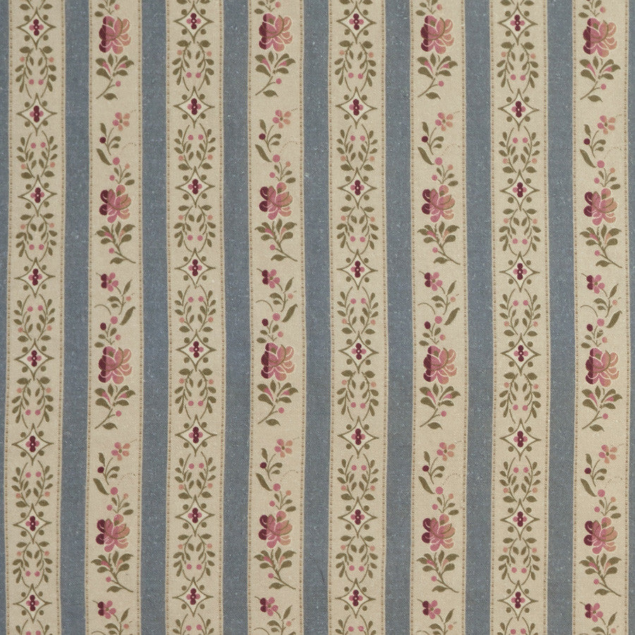 Beauclerc Stripe Wide Aged Linen/Wedgewood Samples