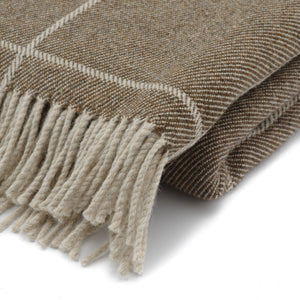 Inchyra Scottish Wool Throw in Conker