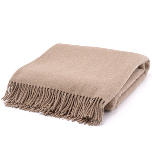 The Inchyra Wool Twill Throw in Camel