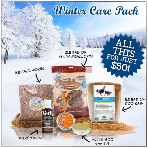 Chubby Mealworms Winter Care Kits