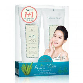 ALOE VERA 93% SOOTHING GEL  1+1 SET 蘆薈舒潤凝膠1+1套裝