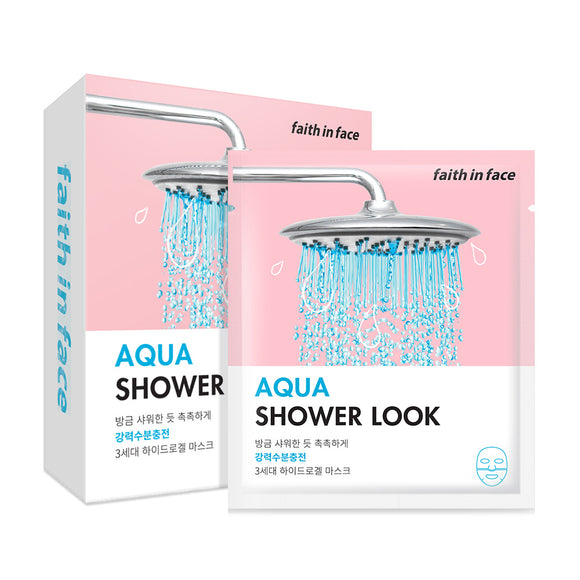 Faith in Face - AQUA Shower Look Hydrogel Mask 三倍極緻深層保濕水凝膠面膜 (10片)