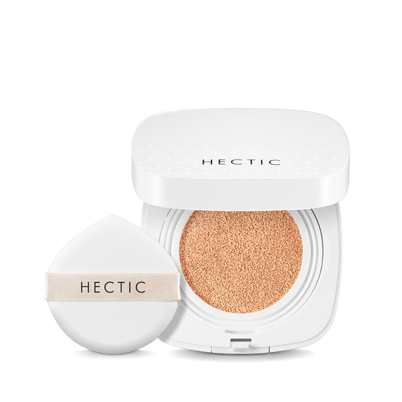 HECTIC Waterfull Glow PM Cushion 010 Light Roasting 抗藍光保濕氣墊粉底 01