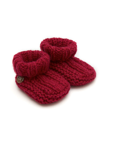 Cashmere Booties - Plum - Casimier