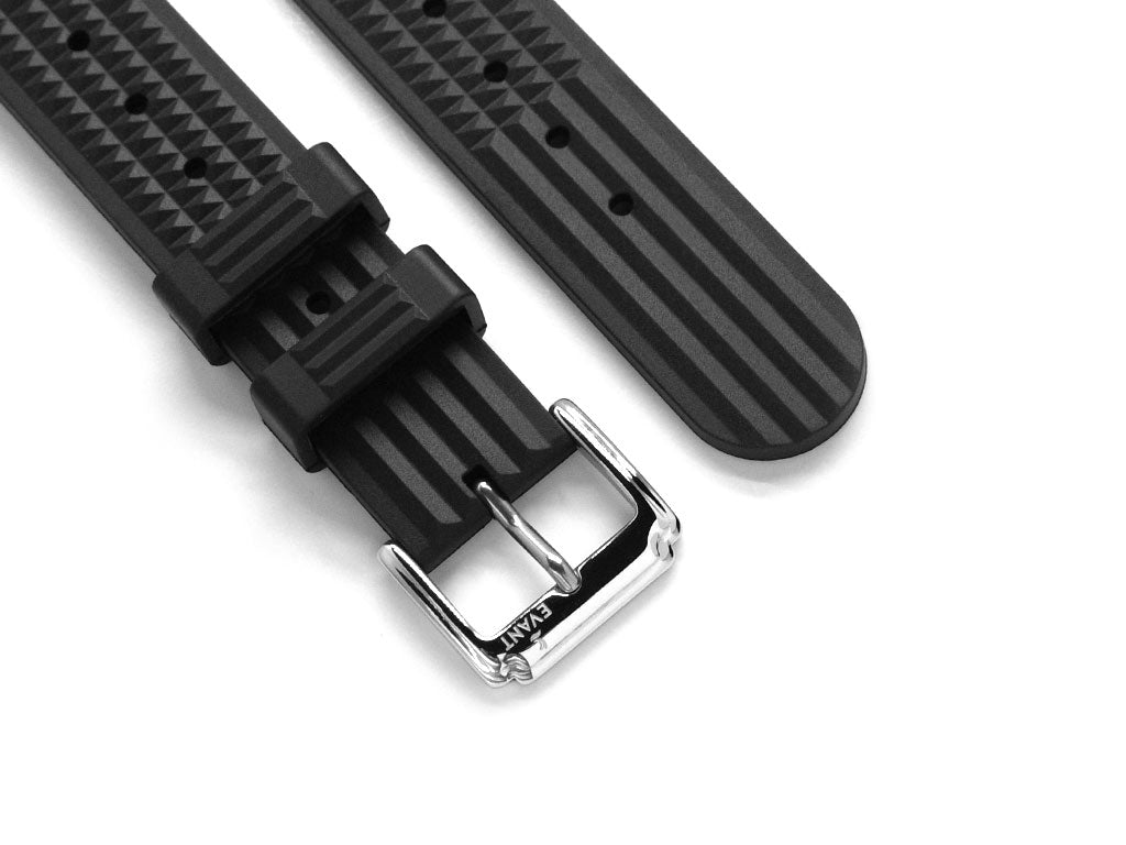 Black Waffle Rubber Strap