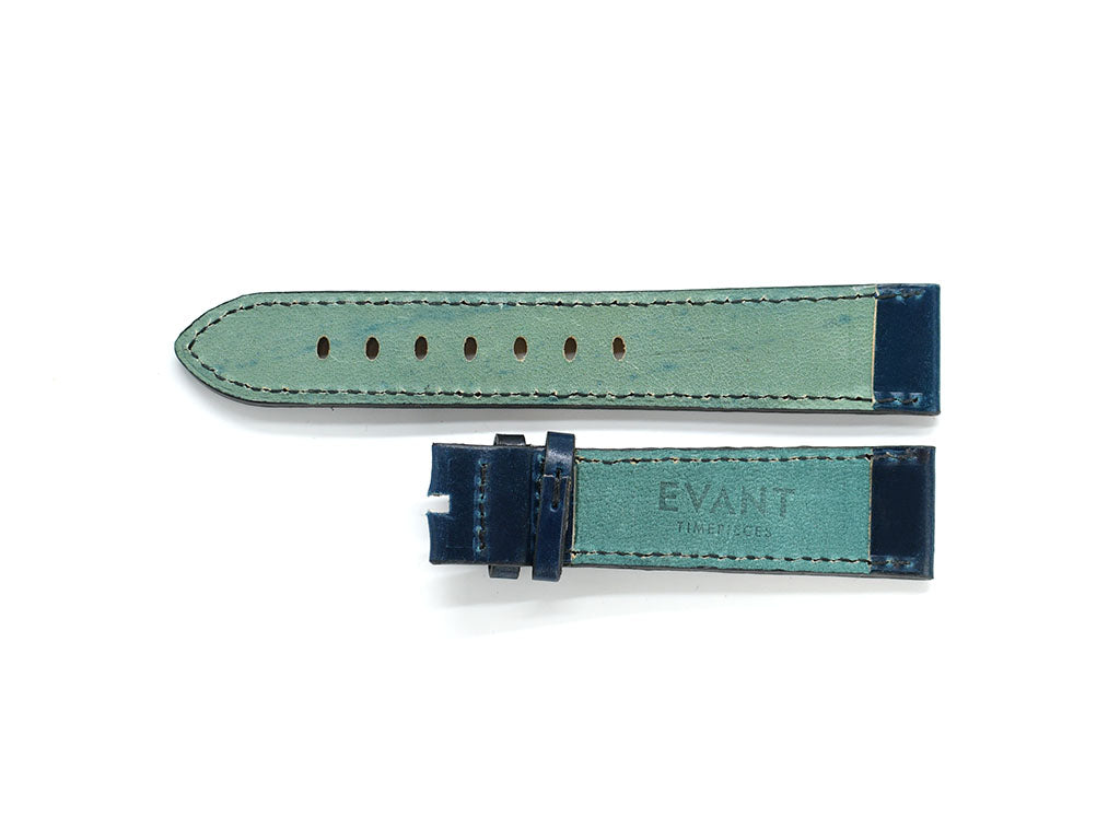 Dark Blue Horween Shell Cordovan Leather Strap