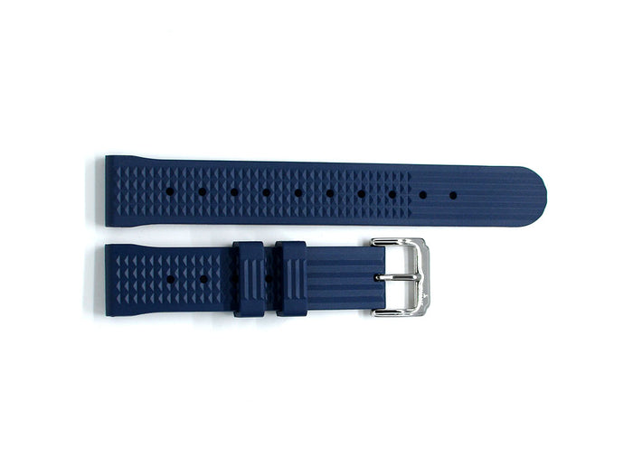 Blue Waffle Rubber Strap