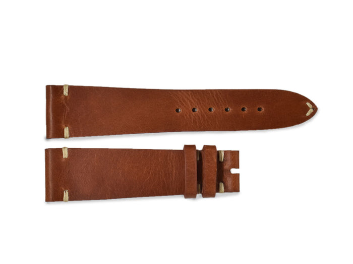 Cognac Vintage Leather Strap