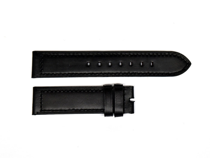 Smooth Black Leather Strap