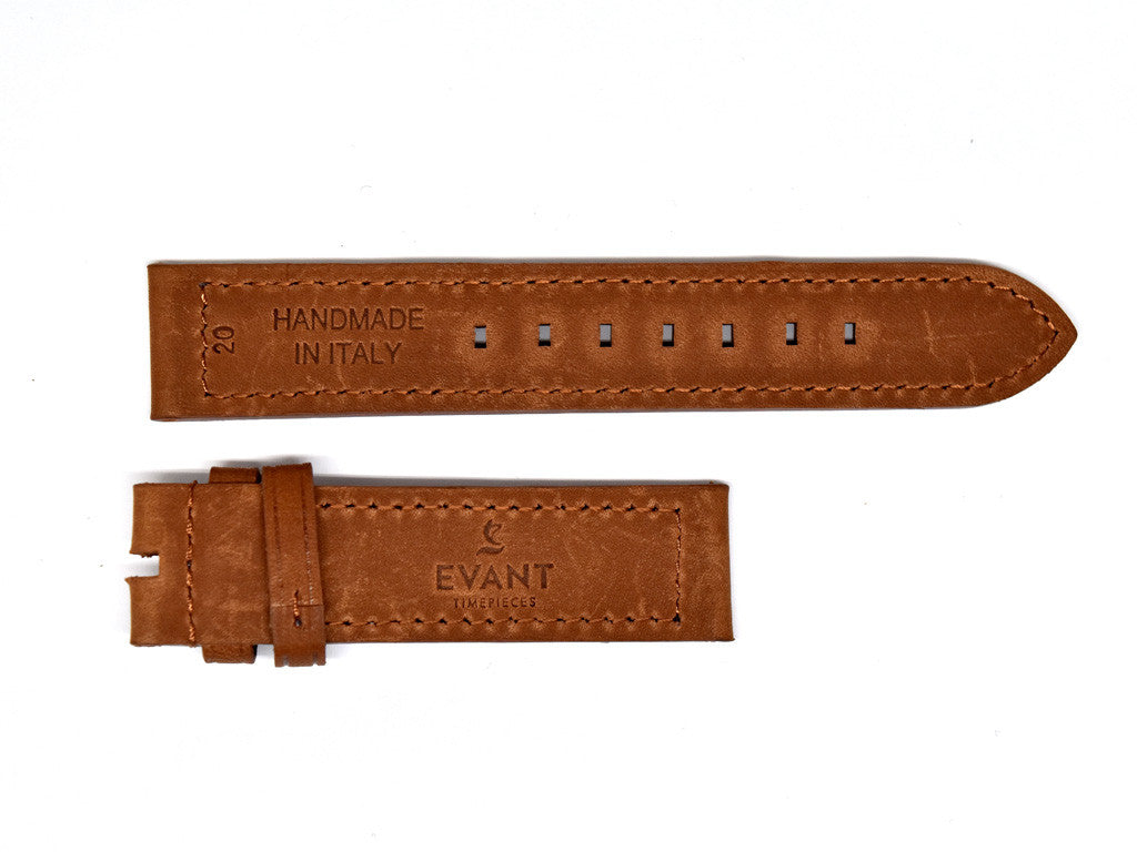 Aged Brown Leather Strap