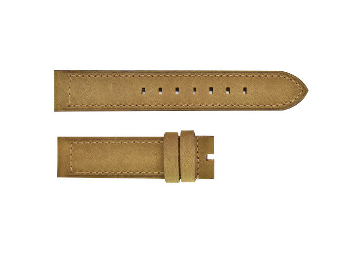 Naturally Aged Brown Leather Strap