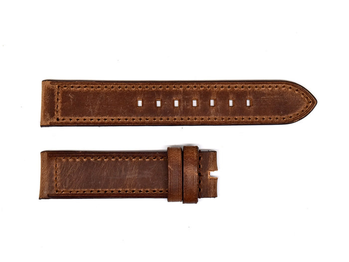 Distressed Brown Leather Strap