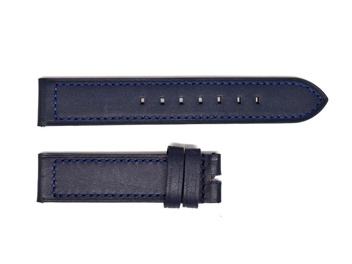 Navy Blue Leather Strap
