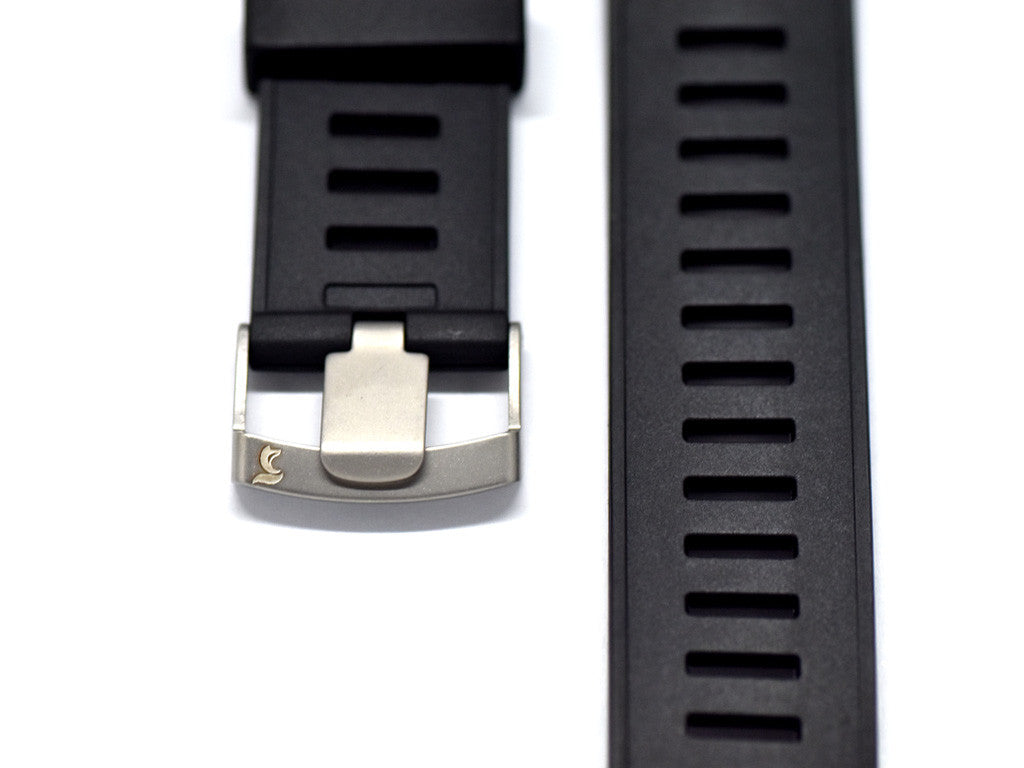 Black Tropic Rubber Strap
