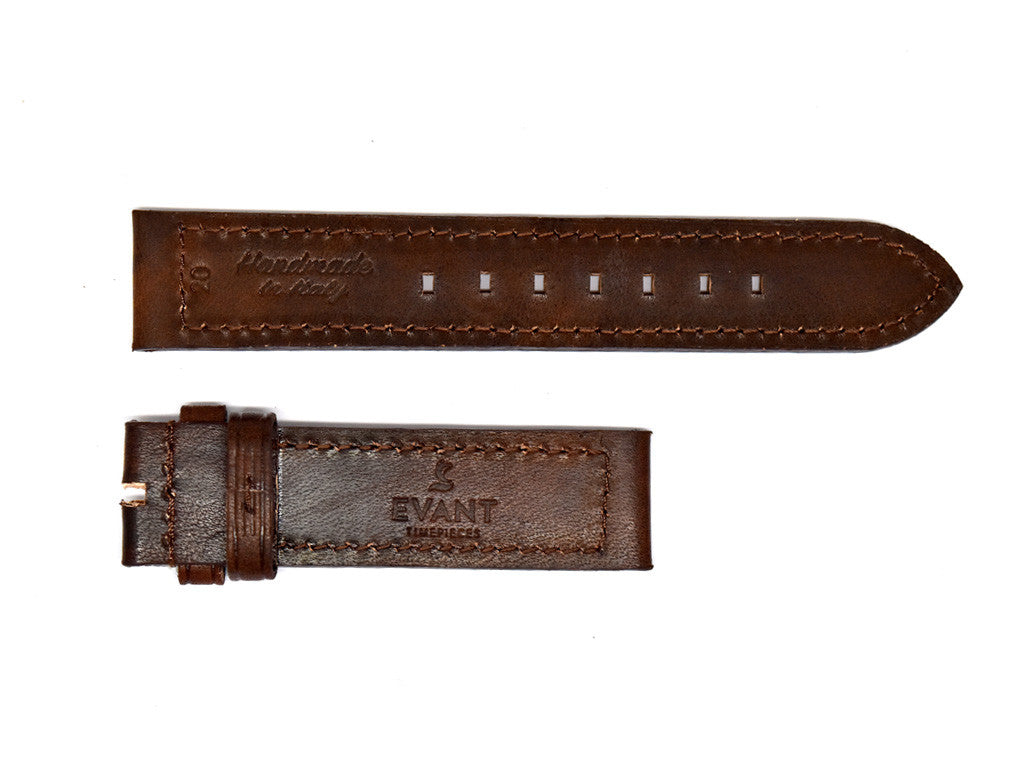 Stained Dark Mocha Leather Strap