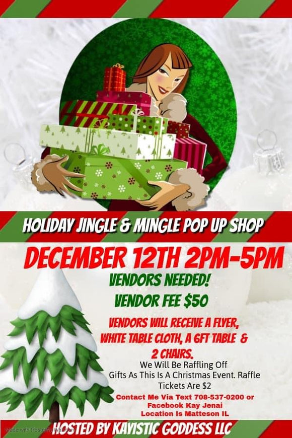 Holiday Jingle & Mingle Pop up Shop