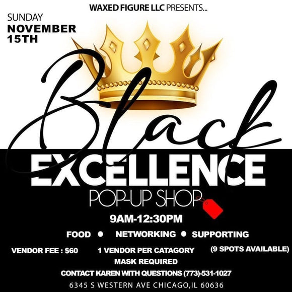 Black Excellence Pop up Shop