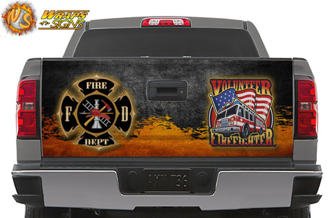 Firefighter Logo Tailgate Wrap