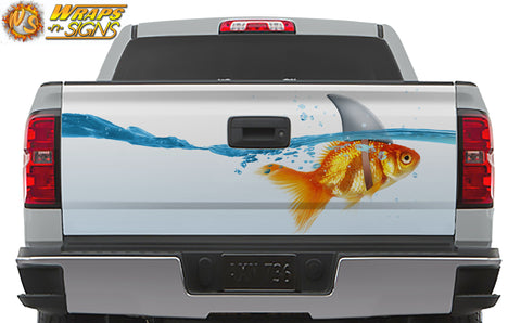 Goldfish Shark Tailgate Wrap