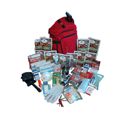 Wise Foods 2 week red deluxe survival backpack