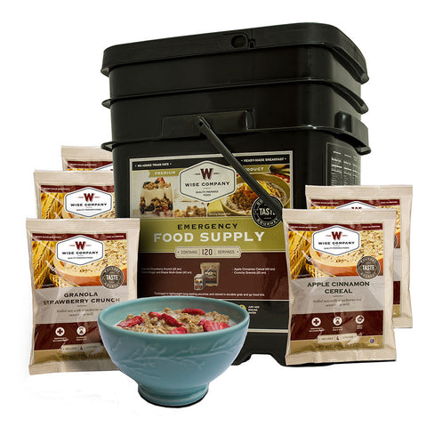 Wise Foods 120 servings grab and go bucket of breakfast food only