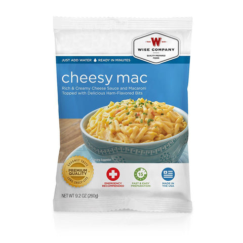 Wise Foods cheesy macaroni in a 4 serving pouch