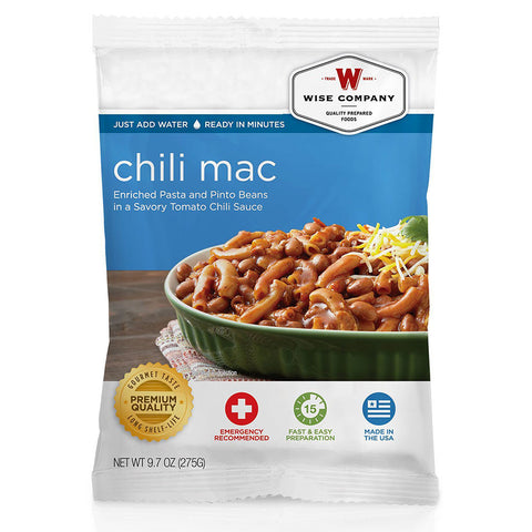 Wise Foods chili macaroni in 4 servings pouch
