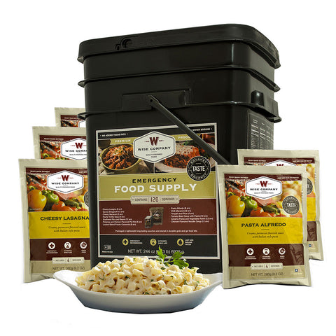 Wise Foods 120 serving entree only grab and go bucket