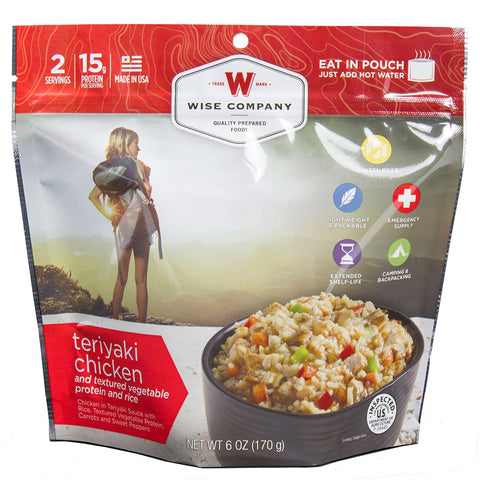Wise Foods Outdoor teriyaki chicken and rice