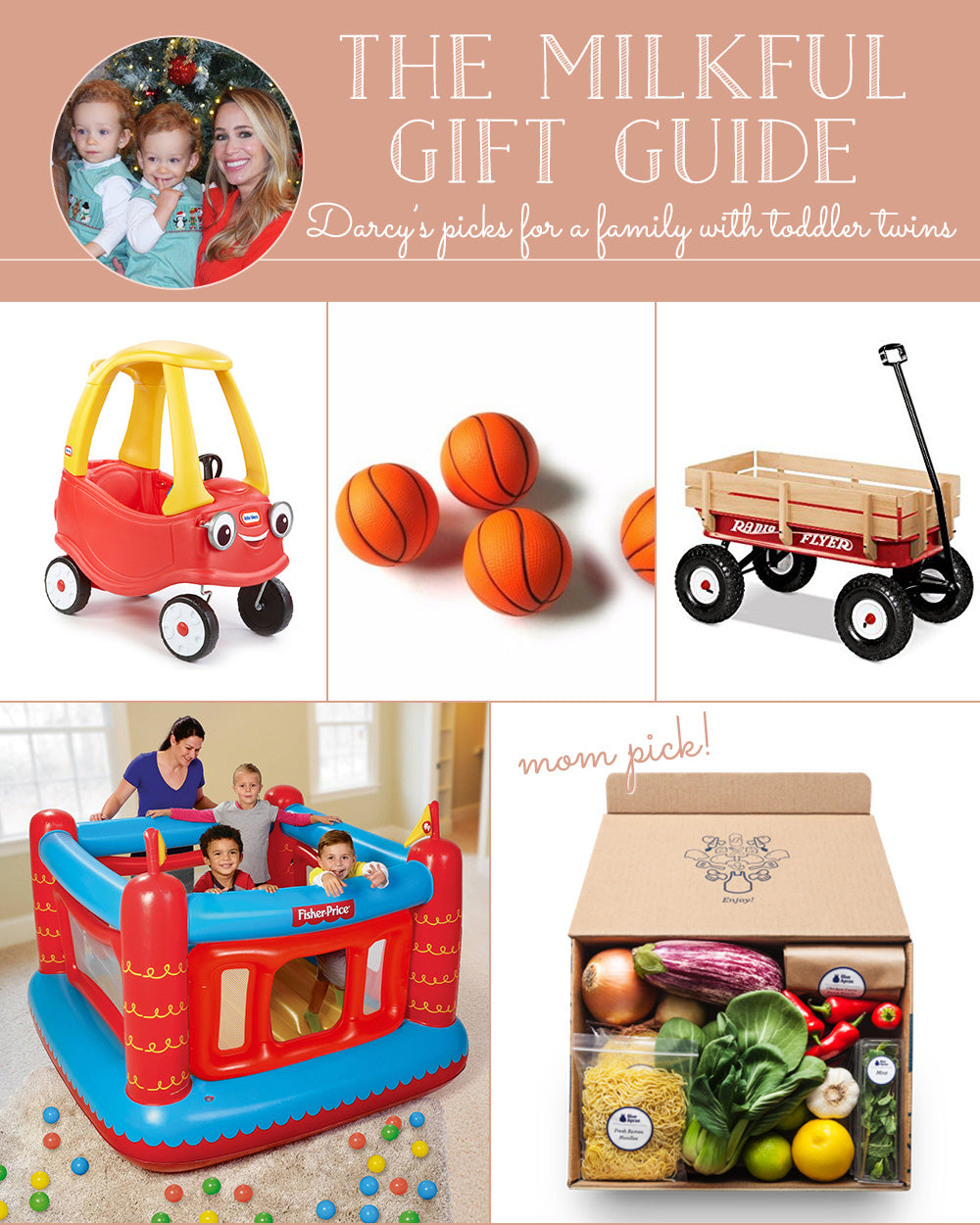 The Milkful Gift Guide for a Family with Toddler Twins