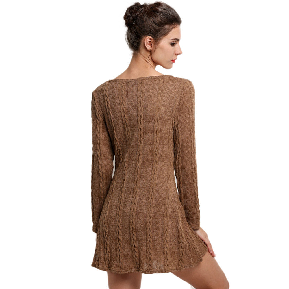 Sweater Knitted Mini Dress