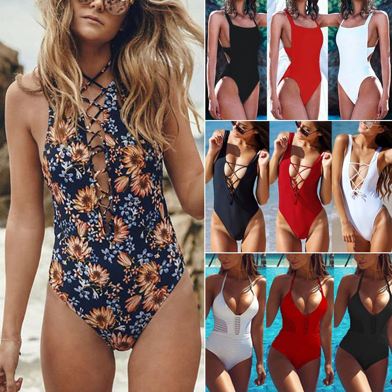 one piece swimsuit Backless Padded swim suit